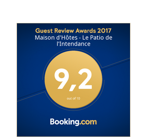 Guest Review Award 2017 - Patio de l'Intendance